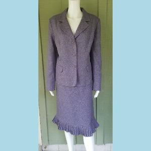 LE SUIT Heathered Purple Career Skirt Suit 16